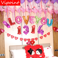 VIPOINT PARTY one set 16inch i love you 1314 foil balloons wedding event christmas halloween festival birthday party HY-119