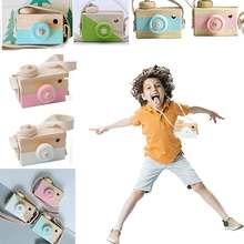 Новые милые мини игрушки с деревянной камерой, безопасные натуральные Игрушки для маленьких детей, модные развивающие игрушки, подарки на день рождения и Рождество