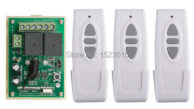 DC12V 1CH 10A RF Wireless Remote Control Switch System teleswitch 3 transmitter & 1 receiver relay Receiver Smart Home Switch купить