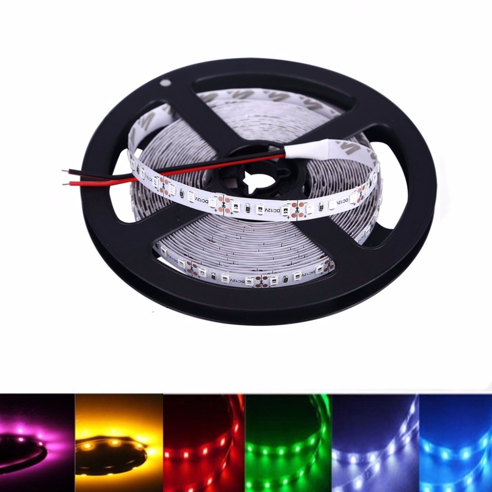 12 V Led Strip PC Light 2835 RGB Waterproof Tape 5M 60LED/M 12V Strip Led Light Tape Lamp Diode Ribbon Flexible Garden Led Color 5m rgb led strip flexible light belt 2835 waterproof diode band diode tape power supply 12v outdoor warm white blue red green
