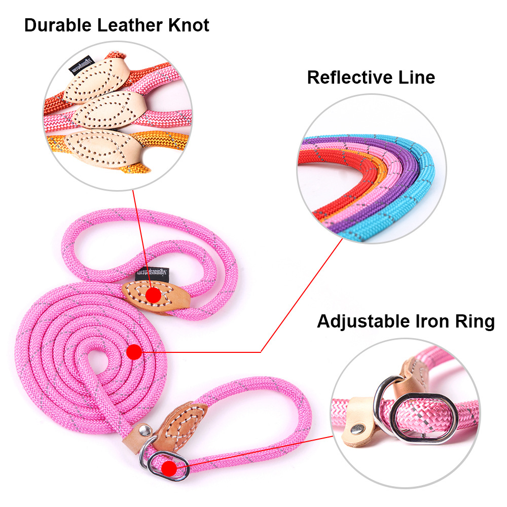 Pet Products Dog Leash Nylon Reflective Puppy Dog Leash Rope Cat Chihuahua Pet Leash And Collar Set Cat Dog Leashes Lead Harness (28)
