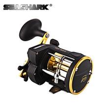 SEASHARK Cast Drum Wheel Casting Fishing Wheel Right Hand Gear Ratio 6:1 Braking Force 10kg Saltwater Deep Ocen Fishing Reel