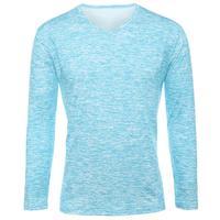 2018 NEW Trendy Summer Men T Shirt Casual Long Sleeve Slim Men's Basic Tops Tees Stretch T-shirt Mens Clothing Chemise Homme 5