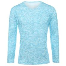 Trendy Summer Men T Shirt Casual Long Sleeve Slim Men's Basic Tops Tees Stretch