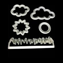 Трава/солнце/облако Пластиковые Помады резак торт плесень помады торт украшения инструменты Sugarcraft