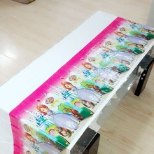 Princesa Sofia Party Supplies Disposable Tablecloth Kids Birthday Decoration Baby Shower For Girls 108x180cm 1