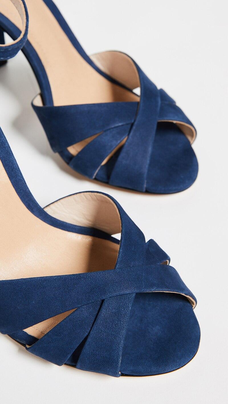 Señoras Fiesta Niña Super Tacones Tobillo Ty01 Ocio Vestido Hebilla Zapatos 2019 De Cuadrados Alta Moda Verano Las Azul Casual Sandalias zwqpFB