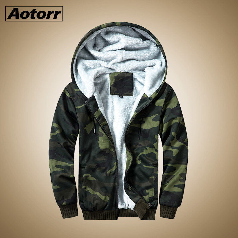 Aotorr Men Jacket and Coat Warm Fleece Thick Army Hooded Jackets 2019 Winter Fashion Mens Military Jacket Streetwear US Size(China)