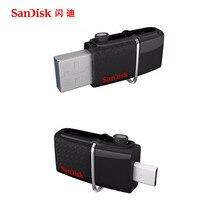 SanDisk USB Flash Drive 128GB 64GB 32GB 16GB 8GB 256gb Memory Stick Pen Drives 3.0USB Pendrive Flashdisk U Disk with MicroUSB