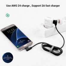1M 2M Micro USB Cable 2A Fast Data Sync Charging Cable Android right angle elbow braided data line For Samsung Huawei Xiaomi