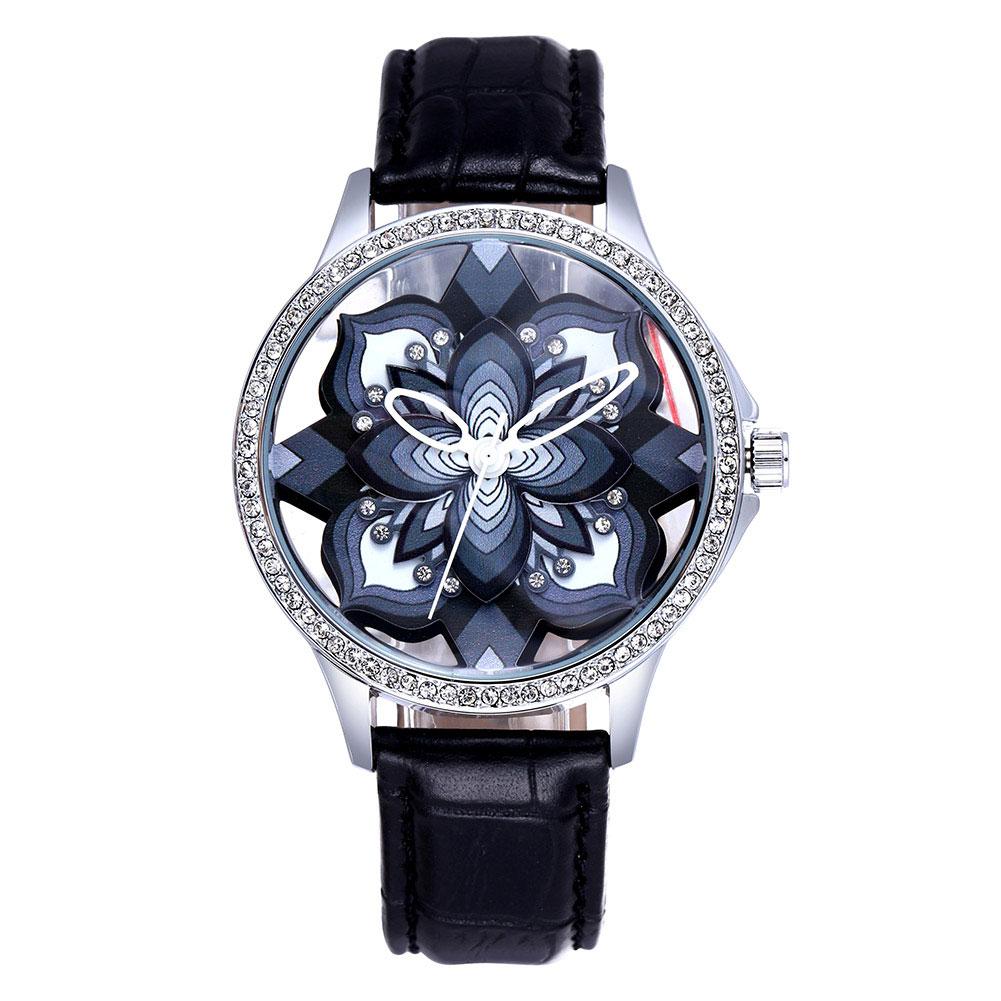 ФОТО SKONE New Fashion Stereoscopic Hollow Flower Watches Women Casual Quartz Wrist Watches Clock Female Women Dress Watch Stylish