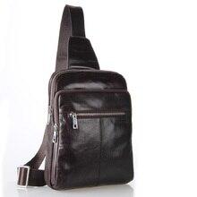 New Arrival Vintage Cow Leather Style Men's Leather Hiking Travel Bag Casual Shoulder Bag Messenger Bag Big Size 7216
