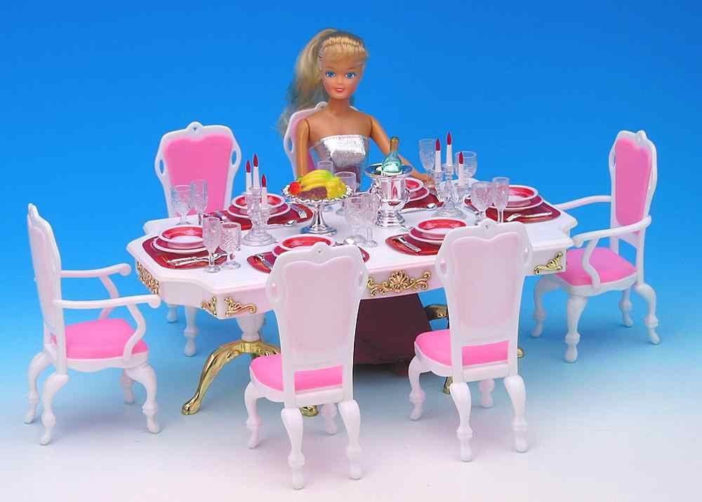 Originale Per Sala Da Pranzo Barbie Da Tavola Ristorante Tavolo Da Pranzo Sedia Set Sogno 1 6 Bjd Accessori Per Mobili Casa Di Bambola Giocattolo Regalo Dolls Accessories Aliexpress