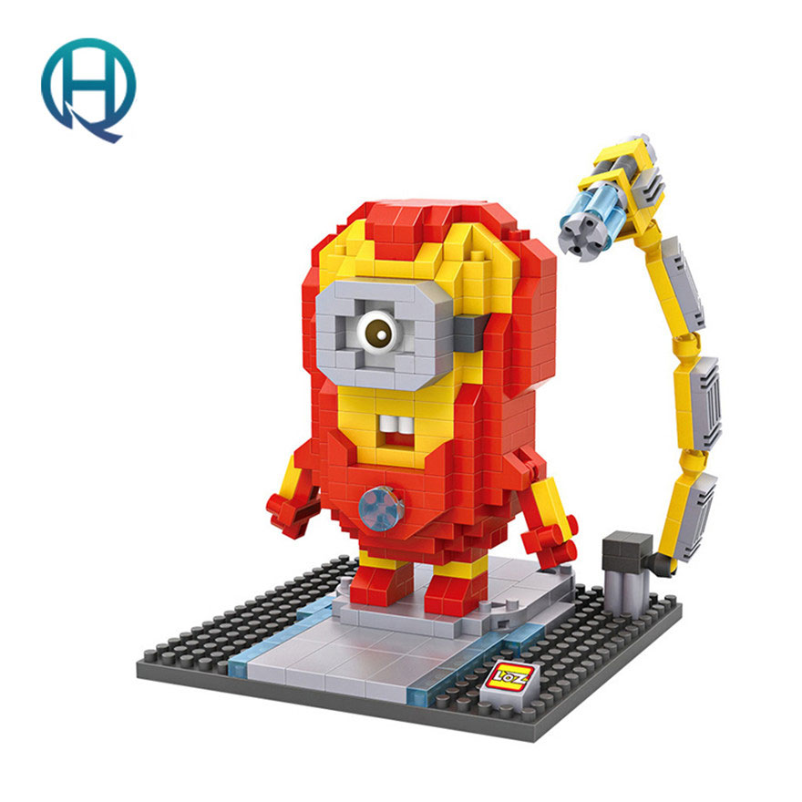 Mini Nano Blocks Minion LOZ Building Blocks The Avengers Iron Man Figures Diamond Blocks Compatible Legoelieds Toys 9536 карта памяти microsdhc 16gb transcend class10 ts16gusdu1