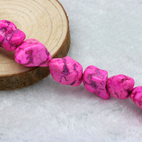Turquoise Irregular Shape Loose Beads 15 Inch 2pc Lot DIY Five Colors To Choose From Fit