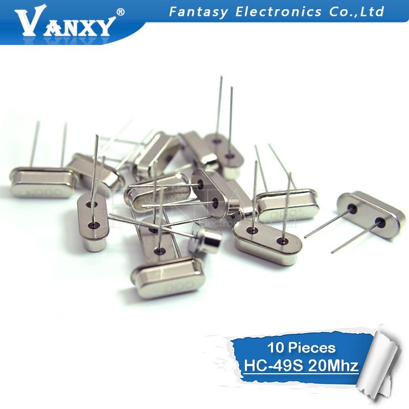 10pcs Hc-49s 20MHz 20.000mhz HC49S 20M 20ppm 20pF Quartz Resonator