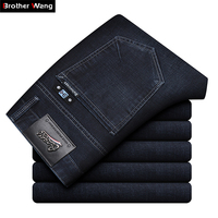 2019 Autumn New Men's Brand Jeans Business Casual High Quality Fashion Embroidery Trousers Male Slim Fit Stretch Denim Pants