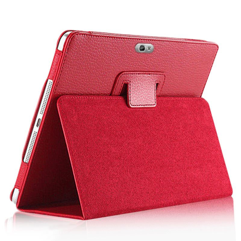 Advanced pu leather stand cover case for <font><b>Samsung</b></font> Galaxy Note 10.1 <font><b>GT</b></font> N8000 tablet N8010 N8013 N8020 Folio Flip book case pocket image
