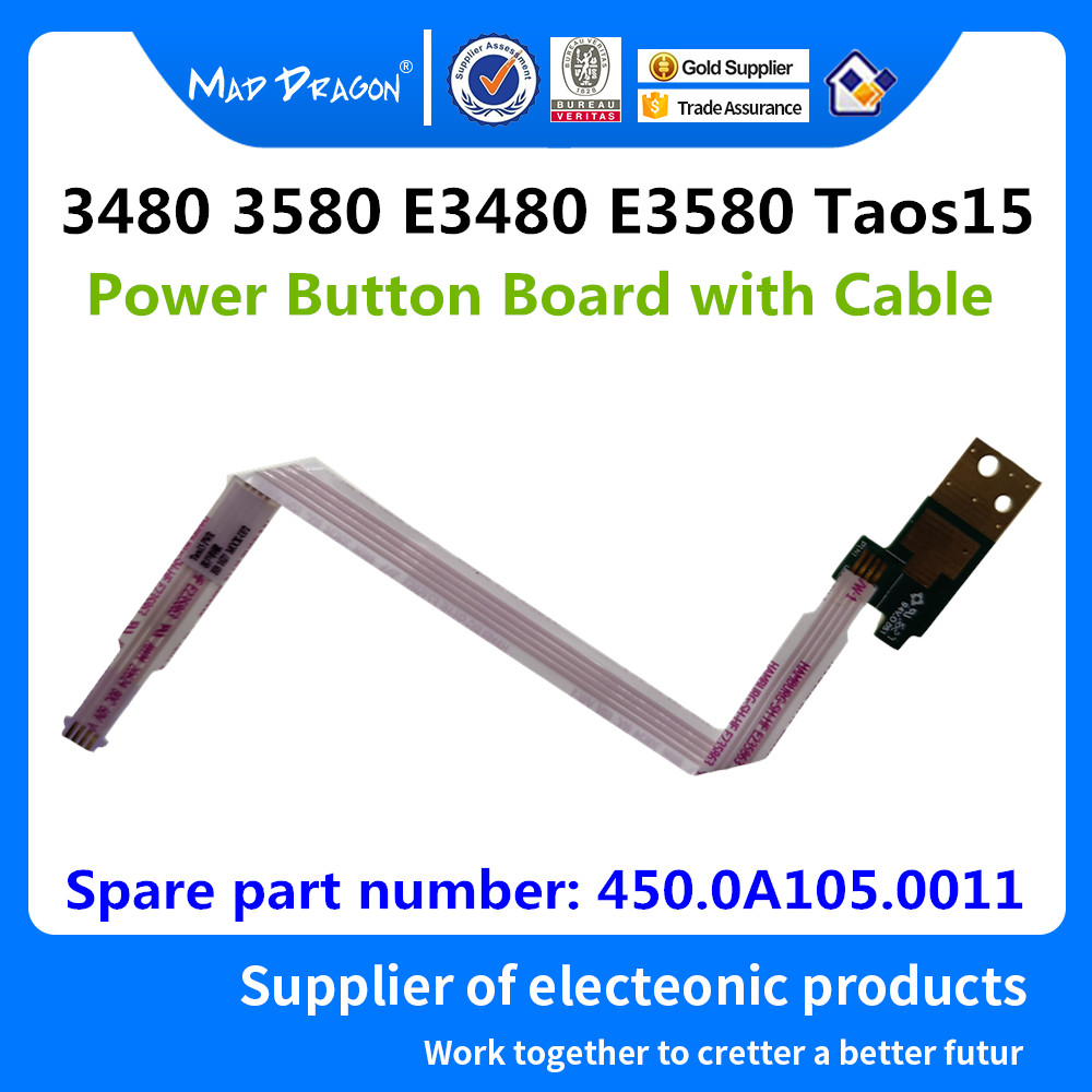 MAD DRAGON Brand Laptop new Power Button Board with Cable For <font><b>Dell</b></font> Latitude 3480 <font><b>3580</b></font> E3480 E3580 Taos15 PWR - 450.0A105.0011 image