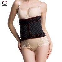 High Comfort Women Men Waist Trainer Belt Tummy Control Corsets With 2 Warmer Pads Body Shapewear