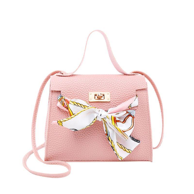 Women PU Leather Handbag Shoulder Lady Crossbody Bag Tote Messenger Satchel Purse With Scarf Decor A69C