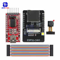 ESP32-CAM ESP32-S WIFI Bluetooth Junta OV2640 2MP inalámbrico módulo de cámara ranura para tarjeta TF inalámbrica módulo de expansión para Arduino