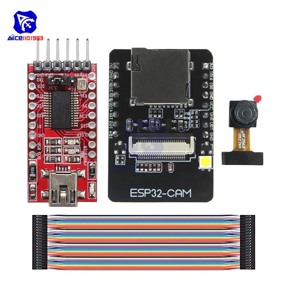 ESP32-CAM WiFi Bluetooth Module OV2640 2MP Camera Module FT232RL FTDI USB To TTL Serial Converter 40 Pin Jumper Wire For Arduino