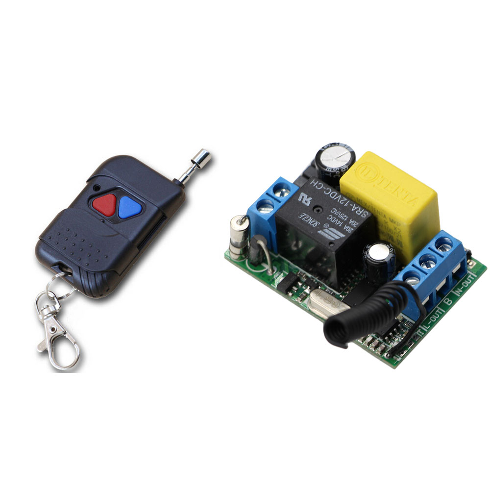 Hot Sale AC220V 1CH 10A Radio Controller RF Wireless Relay Remote Control Switch Transmitter with Receiver for Lamp/ Window for blue water pump automatic perssure control electronic switch circuit board 10a hot sale