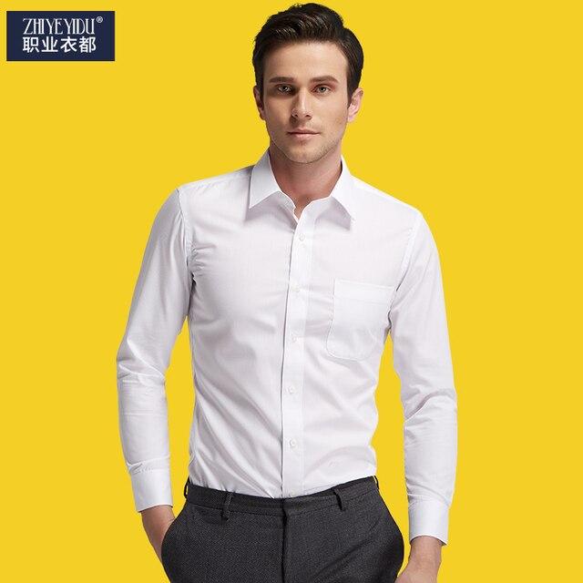 Oral quiz à la mode mâle livraison gratuite hommes costume mince longue  manches longues formelle chemise cb9de866f9f