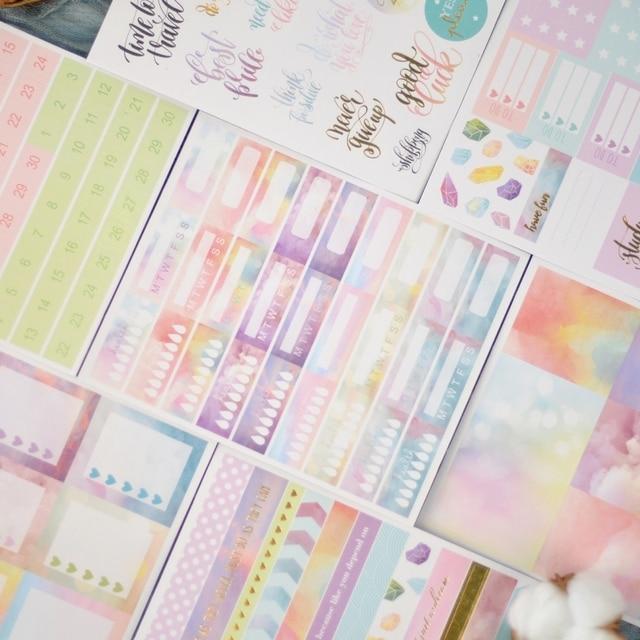 Lovedoki 2020 Beautiful Clouds Sticker Notebook Planner Decorativ Bullet Journal Stickers Japanese Stationery School Supplies 1
