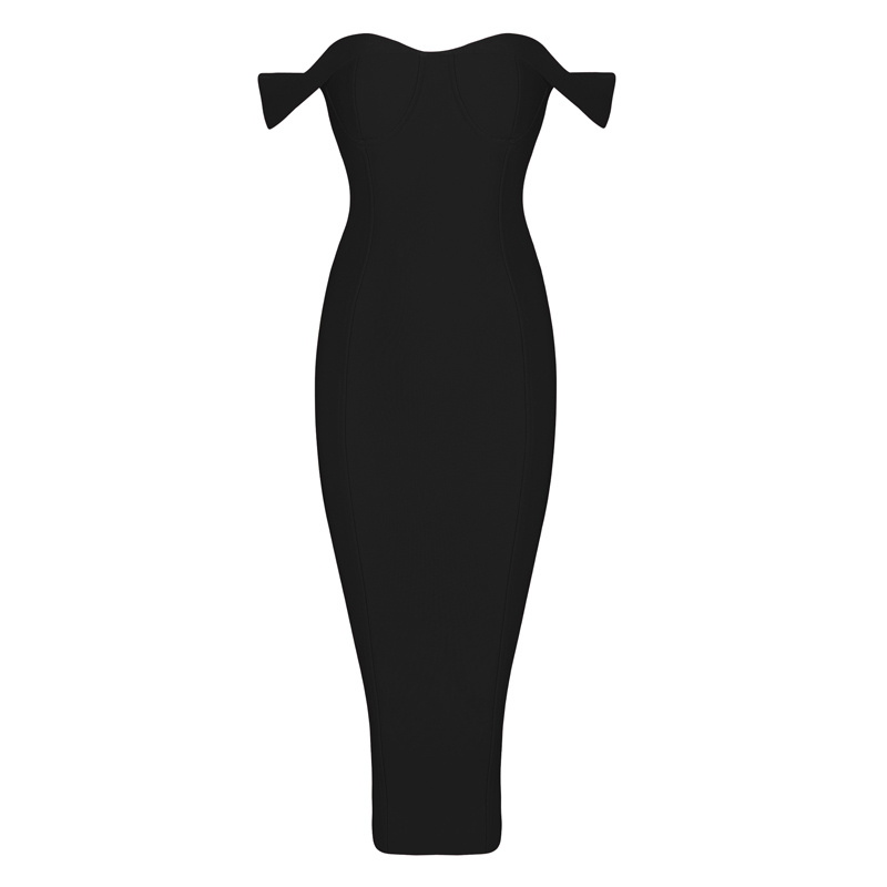 Strapless Black Pencil Dress Promotion-Shop for Promotional ...