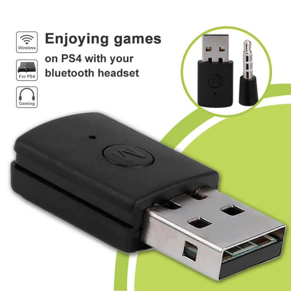 3.5mm Bluetooth 4.0 + EDR USB Bluetooth Dongle Son Sürüm USB Adaptörü PS4 için Istikrarlı Performans Bluetooth Kulaklık