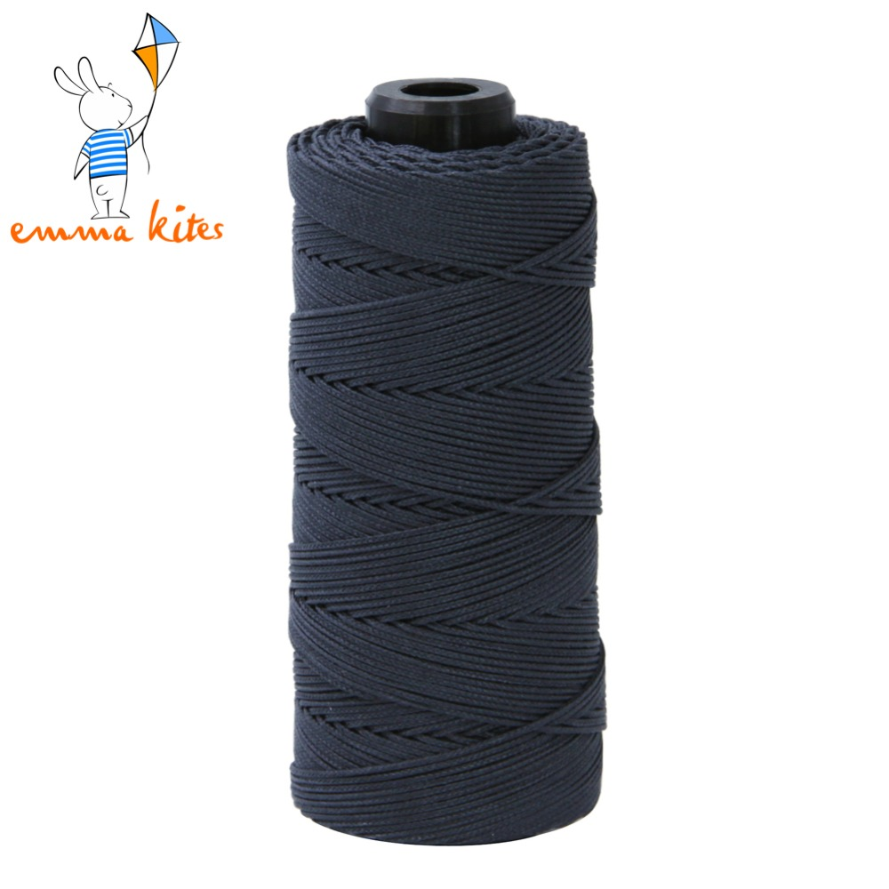 Emmakites 500ft/150m 500lb Core Black Kevlar Line Braided Fishing Line Outdoor Kevlar Fiber Stunt Kite Line String Free Shipping