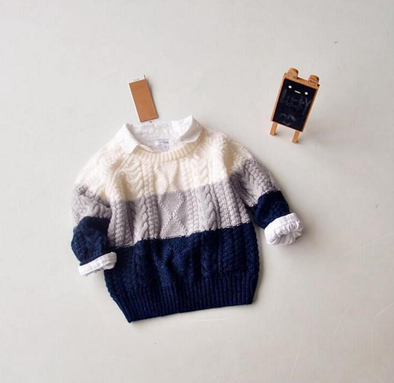 Flight Tracker Ybg49 Autumn Boy Sweater Striped Casual Boy Pullover Full Sleeve Children Clothes Boy Sweatercoat Kids Clothes Baby Sweater Sufficient Supply