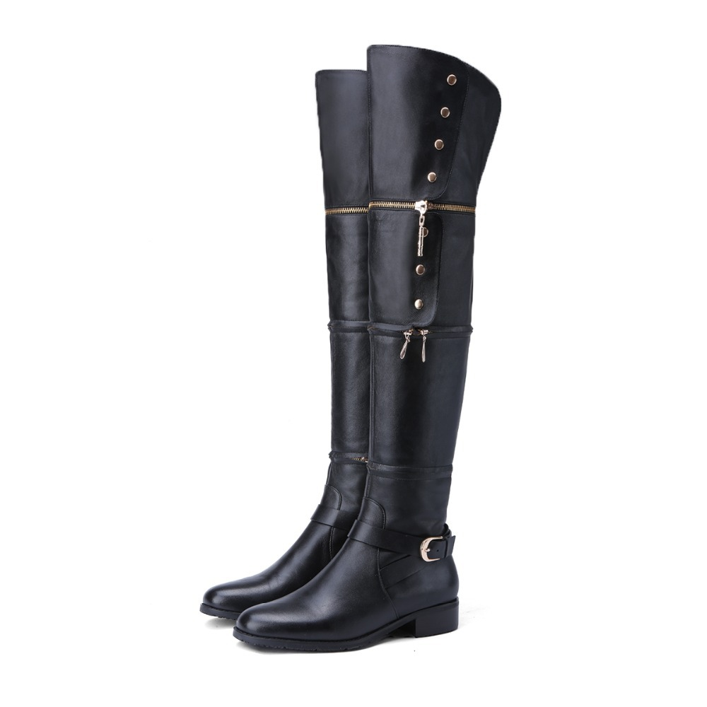 Amourplato New Arrival Women's Muilt-functional Fashion Boots Ankle Boots Knee-boot For All Seasons Handmade 100%Genuine Leather