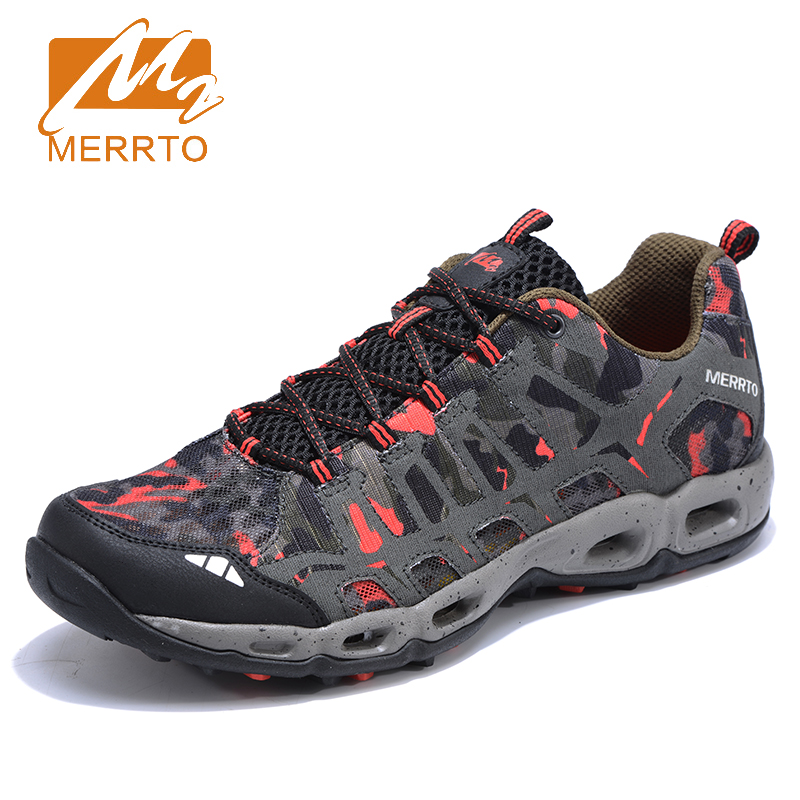 2017 Merrto Mens Camouflage Trail Running Shoes Breathable Outdoor Sports Shoes Travel Shoes For Men Free Shipping MT18655