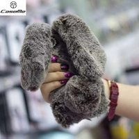Cute Rabbit Doll Fur Ball Phone Case For Iphone 6 6s Case Luxury Warm Fluffy Bunny