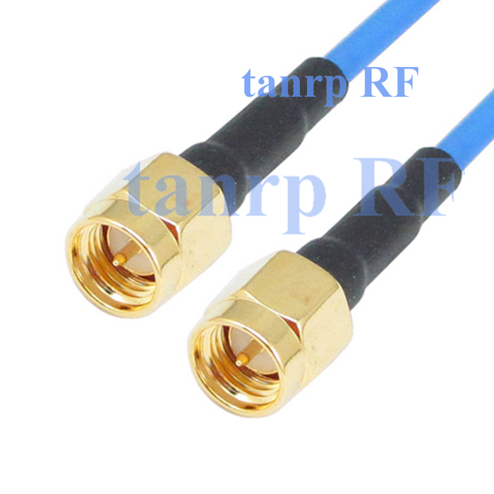 20in SMA male plug to SMA male RF adapter connector WIFI 50CM coaxial Sexi Flexible blue jacket jumper RG405 extension cable