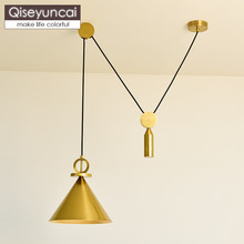 Qiseyuncai Nordic style living room chandelier modern minimalist aisle corridor creative LED bar restaurant lighting