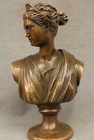557 + + 12 Народная китайская бронза Медь Запад Belle статуя Книги по искусству Сандер руки Скульптура комплект