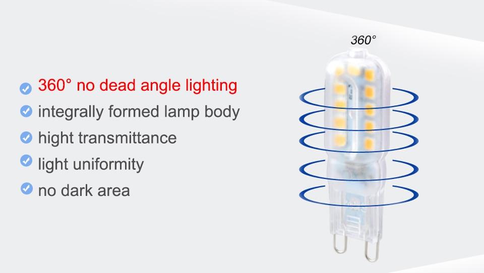 G9 LED Bulbs 220V 110V Dimmable (8)