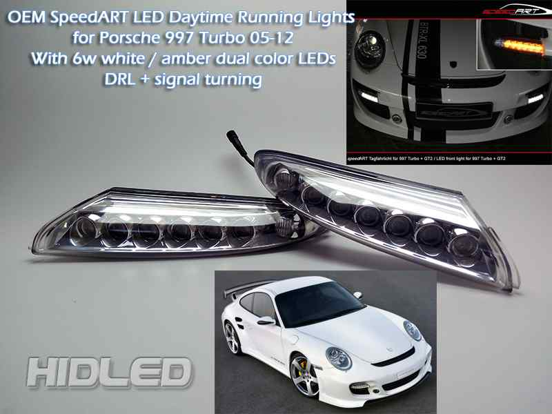 LED Bumper DRL Daytime Running Lights font b Lamp b font White Amber Dual Color DRL