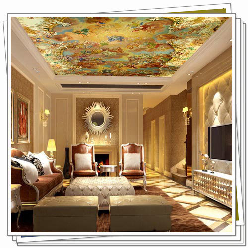 Suspended Ceiling Murals Wallpapers Large Photo Wallpaper 3D For Dining Room  Living Room Custom Beach Wall
