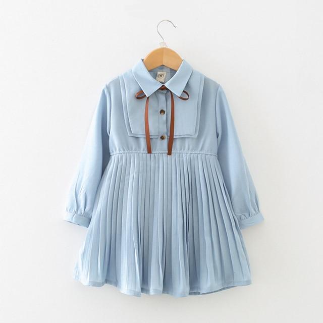 Платье для маленьких девочек детей Костюмы 2018 Модное детское платье для девочек с длинным рукавом детская одежда платье принцессы Vestido Menina