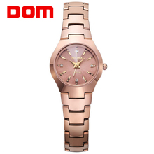 DOM 2017 New Fashion brand Metal Strap Crystal Quartz Women Watches Ladies Dress Watches Female Casual Watches