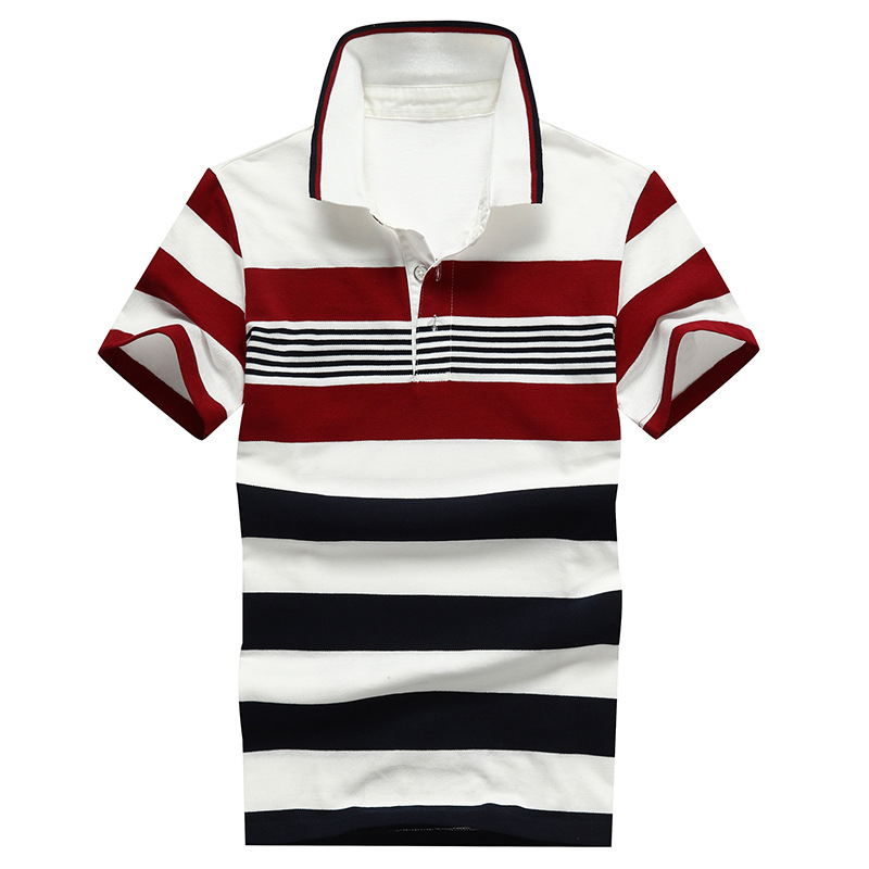 Image 4 - 92% Cotton camisa Men Polo Shirt  2019 Casual Striped Slim short sleeves ASIAN SIZE M 4XL-in Polo from Men's Clothing
