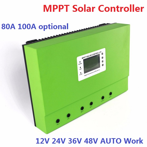 LCD display 12V 24V 48V abuto work 80A MPPT solar charge controller with RS232 Lan, DC load Ctrl, 80A solar home controller 60a mppt solar charge controller with lcd 48v 24v 12v automatic recognition rs232 interface to communicate with computer smart1
