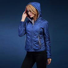 Women's winter jacket With a hood casual thin coat  fashion design short outerwear autumn and winter parka  SIC-V124