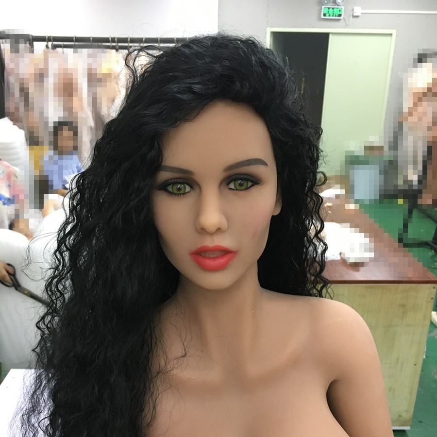 #84 oral sex doll head for big size tpe sex doll 135cm/140cm/148cm/153cm/152cm/155cm/158cm/163cm/165cm/168cm/170cm golden hair green eyes tpe sex doll head oral sex can use on 152cm 155cm 165cm doll for men oral sex