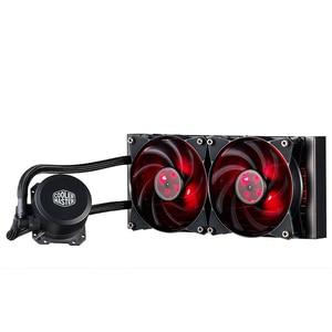Image 3 - Refrigerador mestre b120 b240 cpu refrigerador de água 120mm vermelho led silencioso ventilador para intel 1155 1156 2011 2066 amd am4 am3 cpu líquido refrigeração